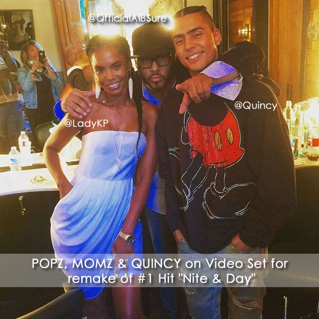 "Al B. Sure!, Quincy & Kim Porter on set of remake of POPZ Classic song ""Nite & Day"""
