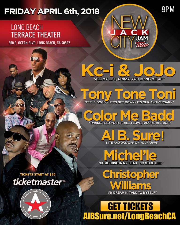 New Jack City Jam Tour Al B. Sure! K Ci & Jo Jo, Tony Tone Toni, Color Me Badd, Christopher Williams, Michele April 6, 2018