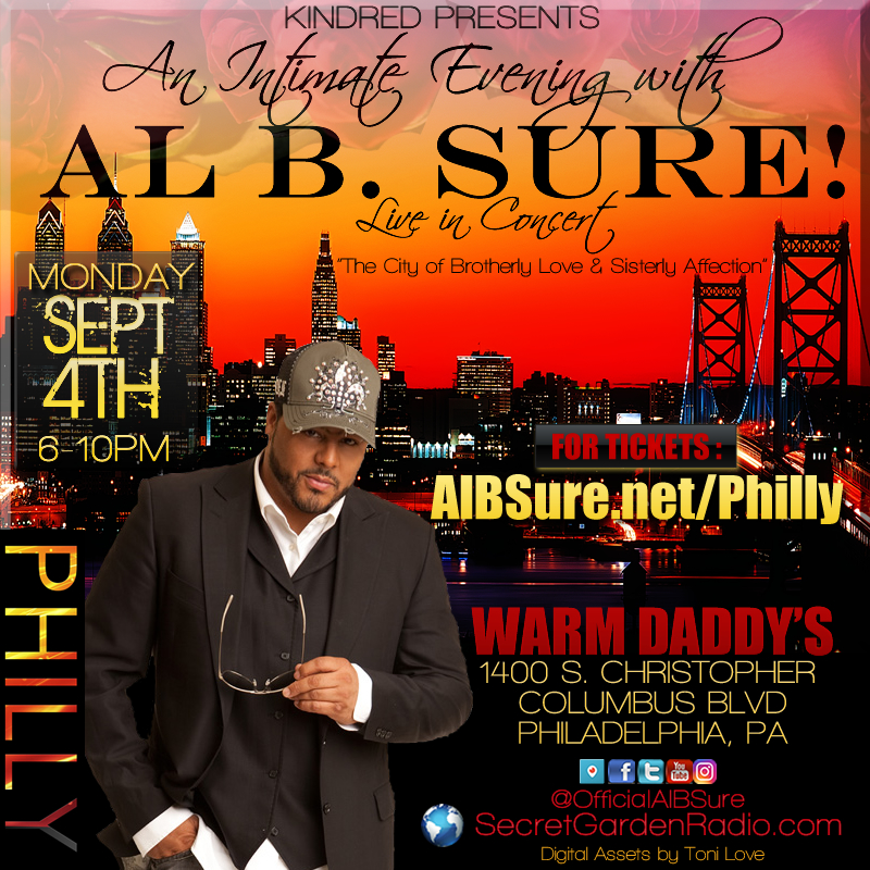 Al B. Sure! to perform in Philly- An Intimate Evening with Al B. Sure! Sept 4th, 2018