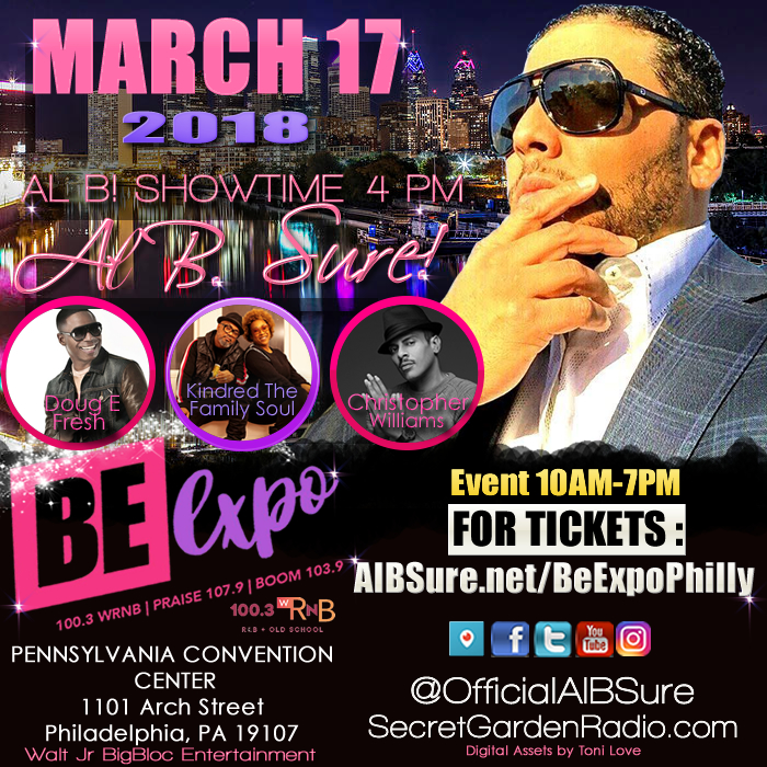 Al B. Sure! to perform at the BE Expo in Philly Saturday March 17th!