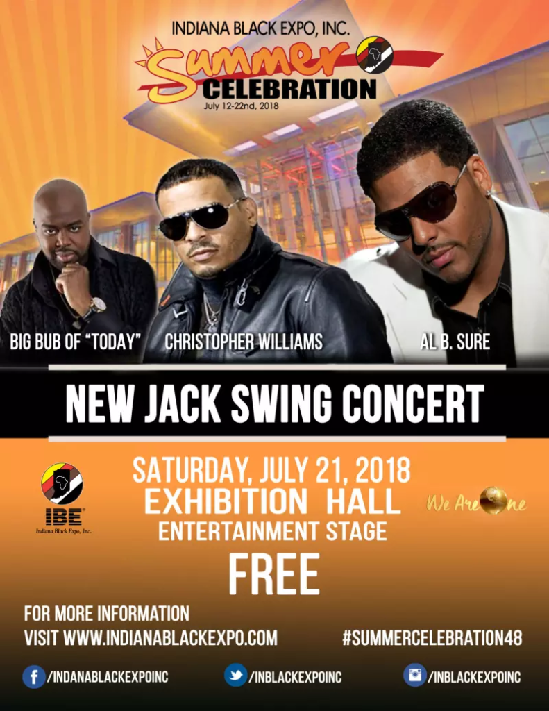 Al B. Sure! Christopher Williams To perform July 21st at the Indiana Black Expo