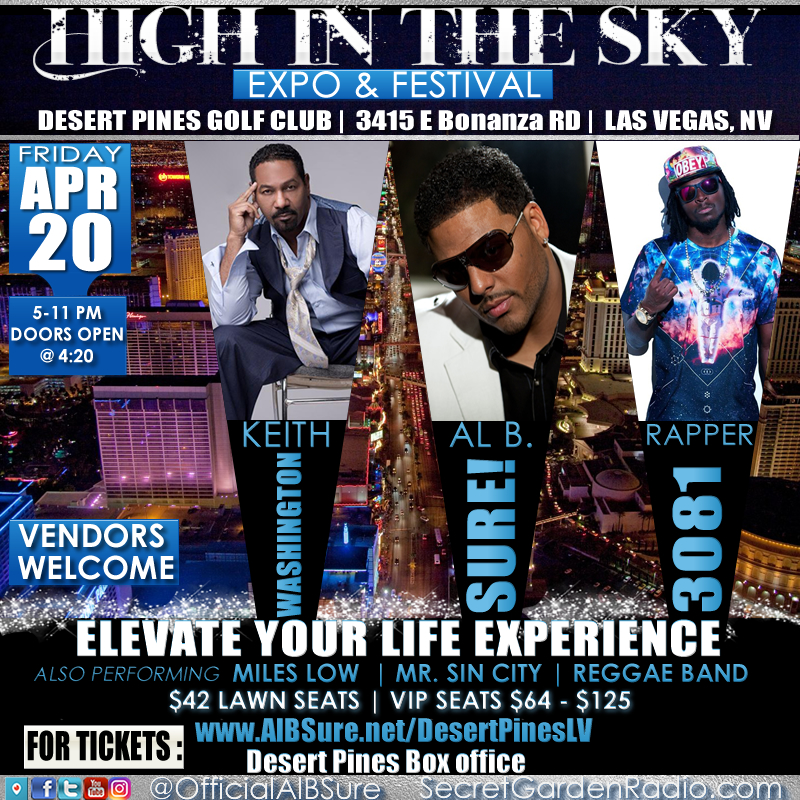 Al B. Sure! to perform at the Sky in the High Expo & Festival Friday April 20th, 2018