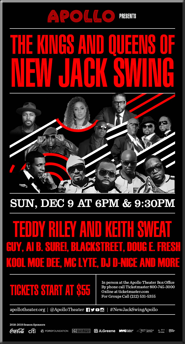 9th, 2018 Teddy Riley And Friends Al B Sure