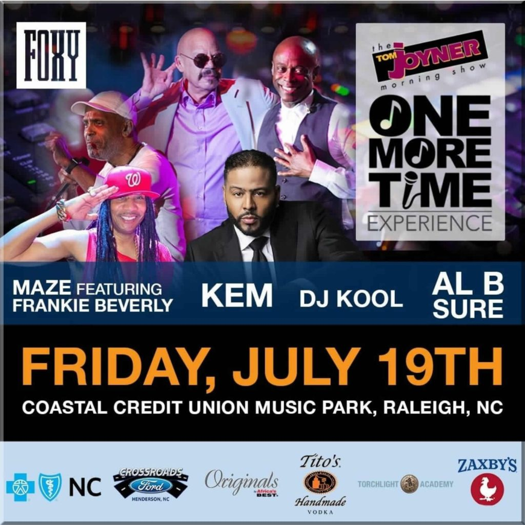 Al B. Sure! to perform at the TOM JOYNER ONE MORE TIME EXPERIENCE July 19th, 2019