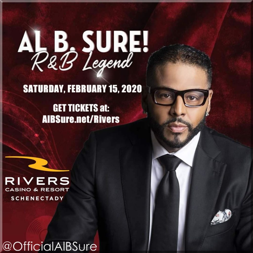 Al B. Sure! to Perform Saturday Feb 15th 2020 Rivers Casino